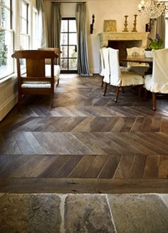 reclaimed wood & stone floors