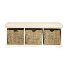 Cottage Ivory Storage Bench | Dunelm