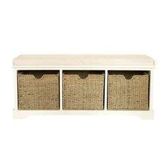 Cottage Ivory Storage Bench | Dunelm