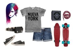 """""""Cool Kid"""" by adigoddess ❤ liked on Polyvore featuring Converse, H&M, Urbanears, Marc by Marc Jacobs and personalstyle"""