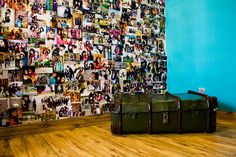 how cool is this? a wall full of photos