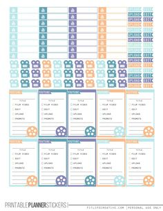 YouTube Planner Stickers Seaside Printable Happy Planner Stickers - FREE