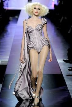 Jean Paul Gaultier Fall 09 Couture--Lady Gaga wore this for press after 2009 VMAs. Love it!