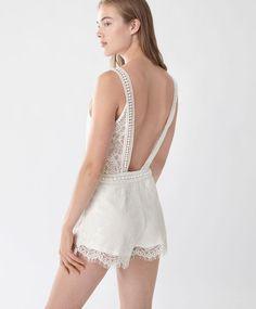 Tuta schiena scoperta - Novità - Tendenze moda donna AW 2016 su Oysho on-line…