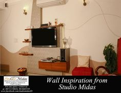 Wall Inspiration from Studio Midas.. Give us a calI at 9711158654, 9818685539 for any query regarding Interior Designing.  #InteriorDesigning