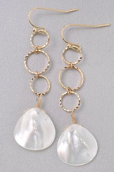 Véritable White Cultured Freshwater Pearl Cluster Dangle Sterling Silver Boucles d/'oreilles
