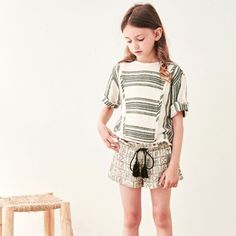 Shan and Toad - Luxury Kidswear Shop - April Showers Bart Light Top