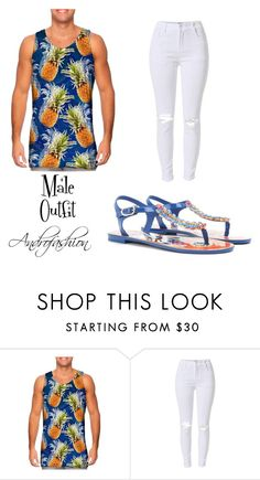 """""""Pineapple male androgynous casual outfit"""" by androfashion ❤ liked on Polyvore featuring Dolce&Gabbana, men's fashion, menswear, casual, androgynous and malefashion"""