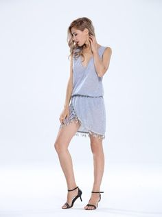 Make this V Neck Sleeveless Tassel Slim Dress your go-to piece this season. Designed with crochet trimmings and a wrap style, more to fit your fashionable needs. List Style, Sleeveless Tunic, Sexy Dresses, Mini, Dresses Online, Wrap Dress, Sexy Women, V Neck, Sleeves