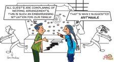 My #cartoon #advertisement for an #eventOrganising company