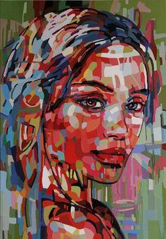 """Saatchi Art Artist Noemi Safir; Painting, """"Touch stone"""" #art"""