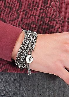 This Crystal Wrap Bracelet can adjust to be a bracelet or anklet as well! Sahalie.com #Jewelry #Gifts #Holidays