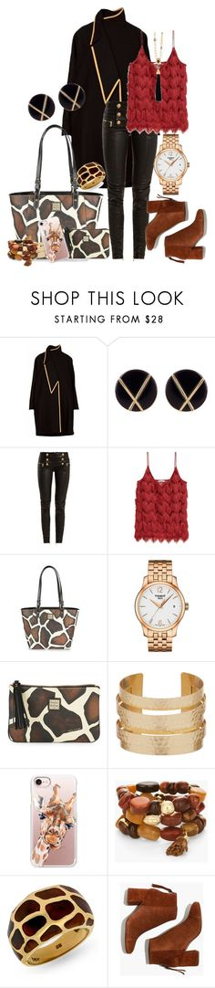 """""""It's the Eyelashes that make them so Cute. Copy-Giraffe!"""" by tgtigerlily ❤ liked on Polyvore featuring Botkier, Balmain, Dooney & Bourke, Tissot, Casetify, Chico's, Madewell and Oscar de la Renta"""