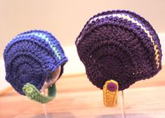Free Crochet football helmet link http://breezybot.blogspot.com/2011/11/free-pattern-baby-crochet-football.html