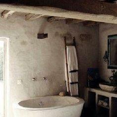 rusztikus design fürdőszoba, kivitelező Áldór kft Taliándörögd Stone Homes, Rocket Stoves, Wabi Sabi, Portuguese, Bathrooms, Minimal, Shabby, Vintage, Decor