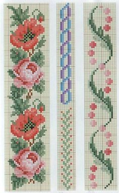 Berlin woolwork chart by dixie Cross Stitch Bookmarks, Cross Stitch Rose, Cross Stitch Borders, Cross Stitch Flowers, Cross Stitch Charts, Cross Stitch Designs, Cross Stitching, Cross Stitch Embroidery, Cross Stitch Patterns