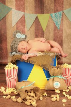 Disney Dumbo - Circus newborn session. Maybe minus the hat add a stuffed dumbo