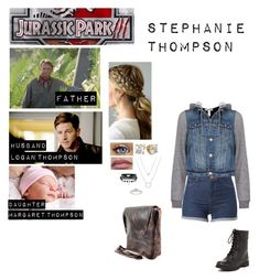 """""""Me in """"Jurassic Park:3"""""""" by c-a-marie2000 ❤ liked on Polyvore featuring Dean, Red Circle and Dex"""