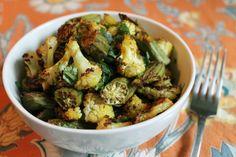 Crispy Spiced Cauliflower and Okra #vegan http://onegr.pl/1jp2NzC