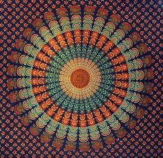 Mandala Hippie Hippy Tapestry indian Wall by Bhagyodayfashions