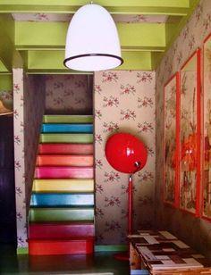 DIY Rainbow Staircase