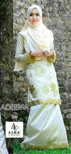 Hijab & Kurung saree by Asma_contemporary