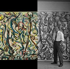 Mural 1943/ Jackson Pollock. Oil and casein on canvas. University of Iowa Museum of Art, 1959.6. Gift of Peggy Guggenheim