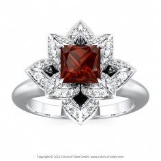 Platinum Lotus Ring
