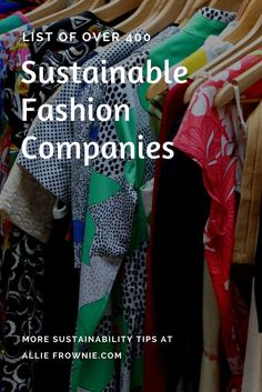 List of Over 400 Sustainable Fashion Companies