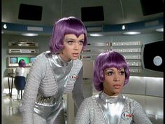 Women at the moonbase on the 1970s TV show, UFO.
