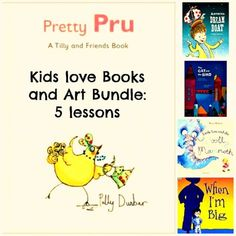 5 Pack Art Lessons Bundle Books and Art Project Close Reading Common Core ELA Common Core Ela, Joy Art, Friend Book, Art Lessons For Kids, Close Reading, New Series, Love Book, Art School, Curriculum