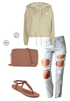 """🐣"" by qqueeen on Polyvore featuring adidas, Apt. 9 and Michael Kors"