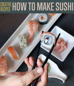 How To Make Homemade Sushi | Easy Tutorial with 3 Sushi Recipes | DIY Ready http://diyready.com/3-sushi-recipes-how-to-make-sushi/