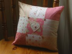 Patchwork cushion pillow with embroidered by patchworkpawprint, £22.00