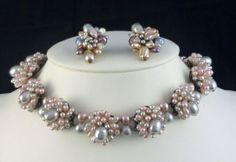 Rousselet Pearl Necklace & Earrings from gemgenius on Ruby Lane