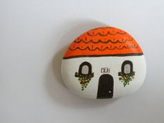 Mini house magnet inspiration board handpainted on by ArzuMusa