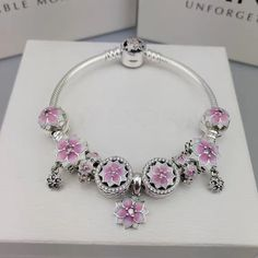 Pick one of yours :Authentic pandora... in our store here!http://www.charmsilvers.com/products/authentic-pandora-bracelet-with-9-pcs-poetic-flower-charms-all-pink?utm_campaign=social_autopilot&utm_source=pin&utm_medium=pin