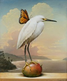 """Saatchi Art Artist Kevin Sloan; Printmaking, """"""""Angel With Mango"""", Limited Edition #5 of 75"""" #art"""