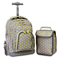 Kit Mochila com Rodas e Lancheira - Lollipop Kids' Candy Buttons - J World New York