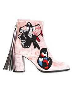 MSGM | Pink Chunky Heel Ankle Boots | Lyst