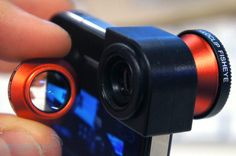 Olloclip three-in-one lens for iPhone 4. Simple accessory... not terribly price!