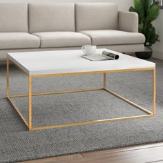 Modern Room, All Modern, Living Room Furniture, Living Room Decor, Modern Furniture, Brass Coffee Table, Coffee Tables, Hanna, Contemporary Coffee Table