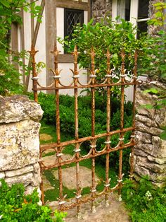 Rusted Garden Gate, I have one that will be coming off the front of the house soon, plan to lean it up against a fence in back and plant morning glories.