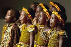 The African Children's Choir is a large choir made up of children ages 7 to 12 from several African nations. Since its inception, the choir has included children from Uganda, Kenya, Rwanda, South Africa, Nigeria, and Ghana.