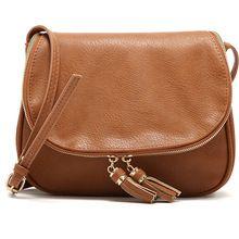 Hot Sale Tassel Women bag Leather Handbags Cross Body Shoulder Bags Fashion Messenger Bag 5 Colors Available Bolsas femininas(China (Mainland))