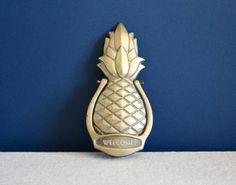 Pineapple+Door+Knocker | Vintage Brass Pineapple Door Knocker by katiearmour on Etsy