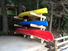 Kayak Rack made from cedar