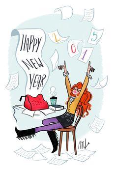 Happy New Year ! Les chroniques illustrées de Magali
