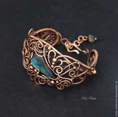 wire wrapped copper bracelet