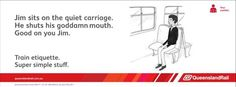 Train etiquette, Australian style.